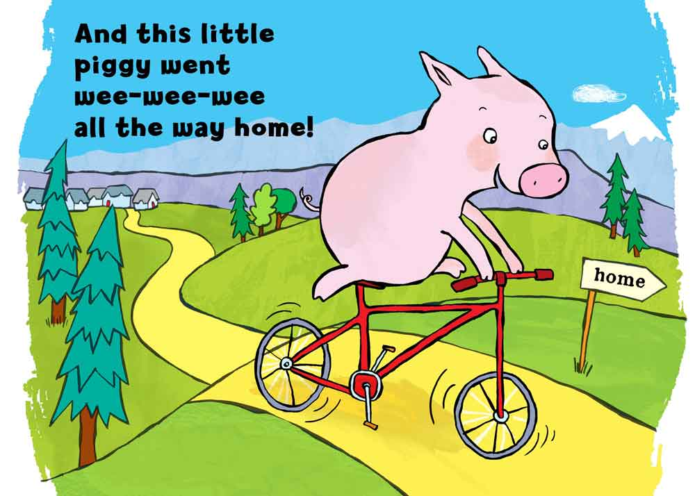 Don't Dine on Swine: Pig on a bike